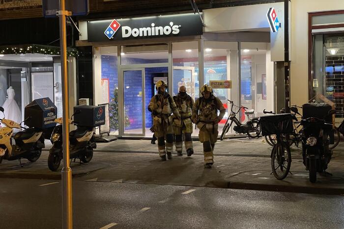 Vreemde geur geroken bij domino's pizza