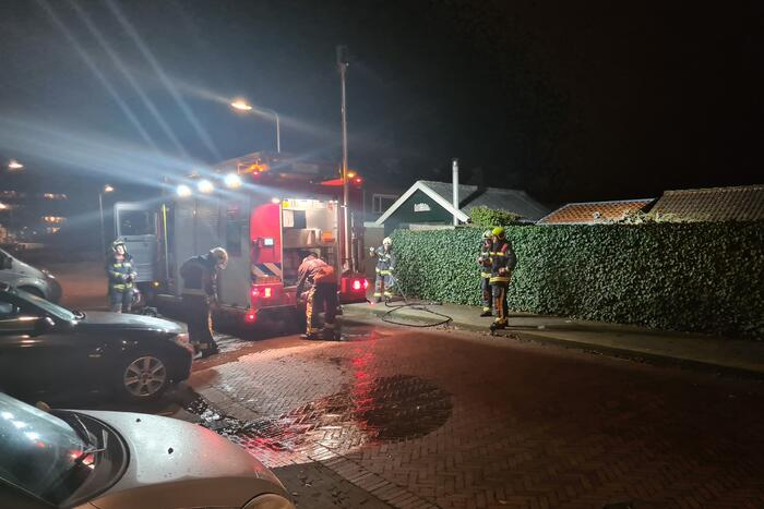 Brand in tuinhuis snel geblust
