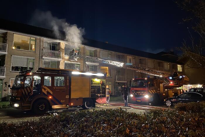Flinke uitslaande brand in woning