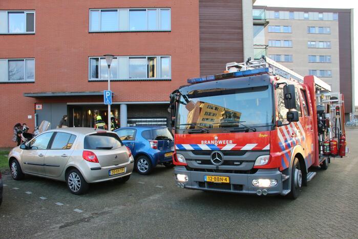 Brand in appartementencomplex