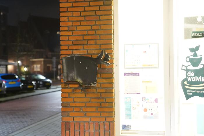 Gebouwbrand blijkt opgeblazen brievenbus