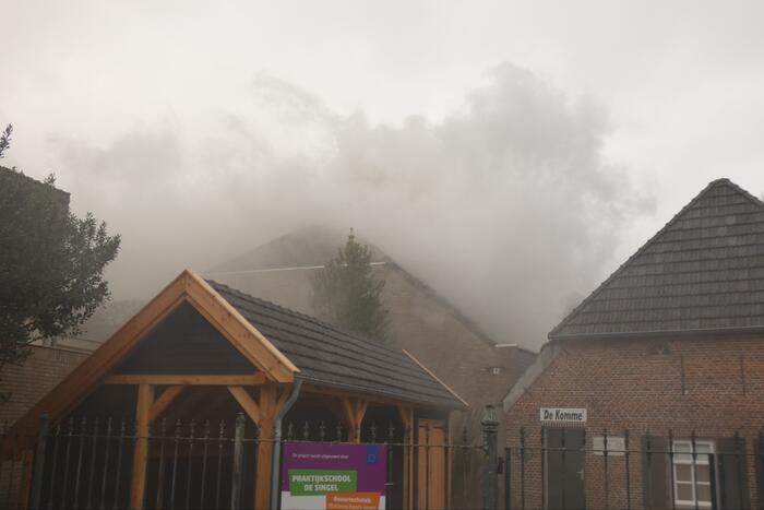 Veel rook bij brand in winkel