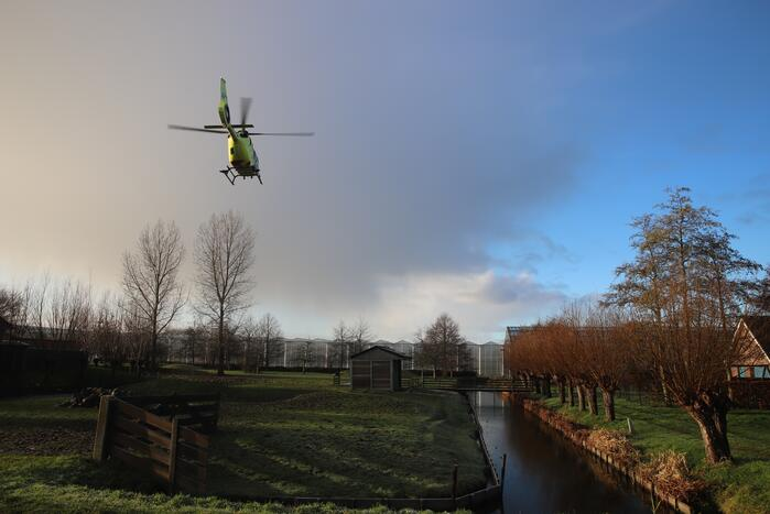 Traumahelikopter ingezet voor incident
