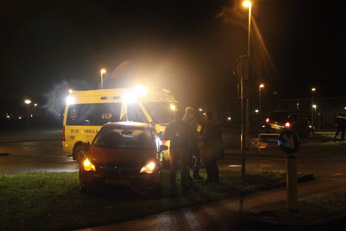 Schade na aanrijding tussen twee voertuigen