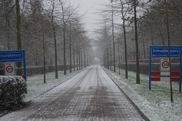 Eerste sneeuwvlokken in provincie Zeeland