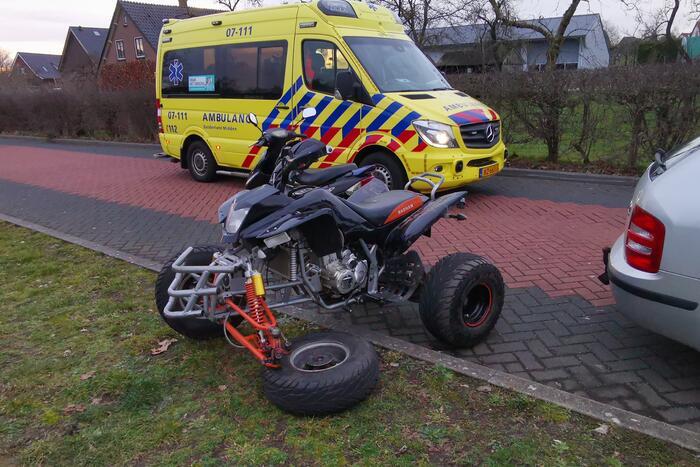 Bestuurder quad gewond na ongeval