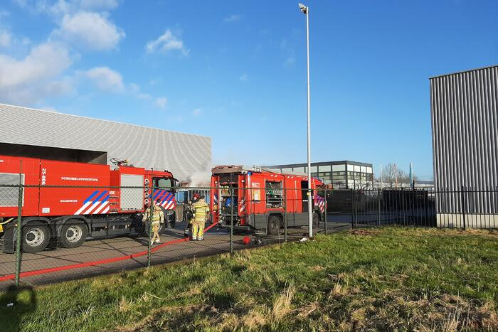 Brand in afvalcontainer bij Montapacking