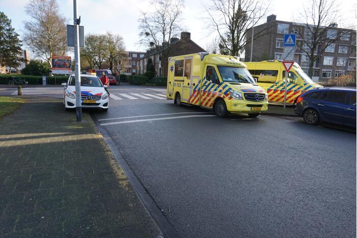 Fietser gewond bij aanrijding met motor