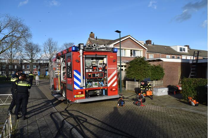 Brand in garagebox snel geblust
