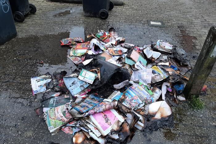 Kliko met papier gaat in vlammen op