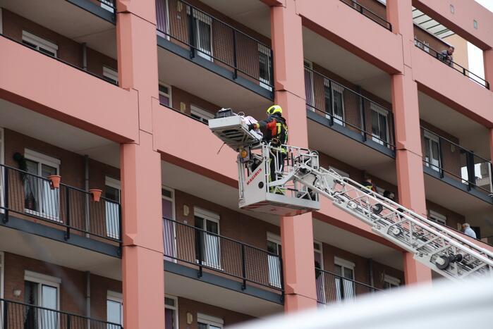 Straat afgezet voor inzet brandweer