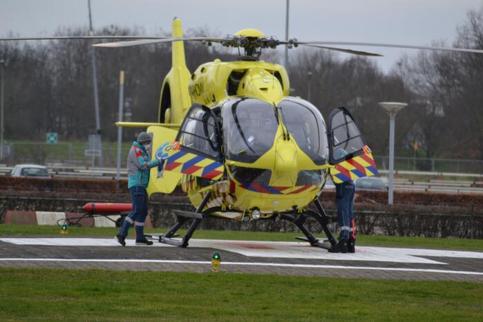 Coronapatiënt overgebracht per helikopter