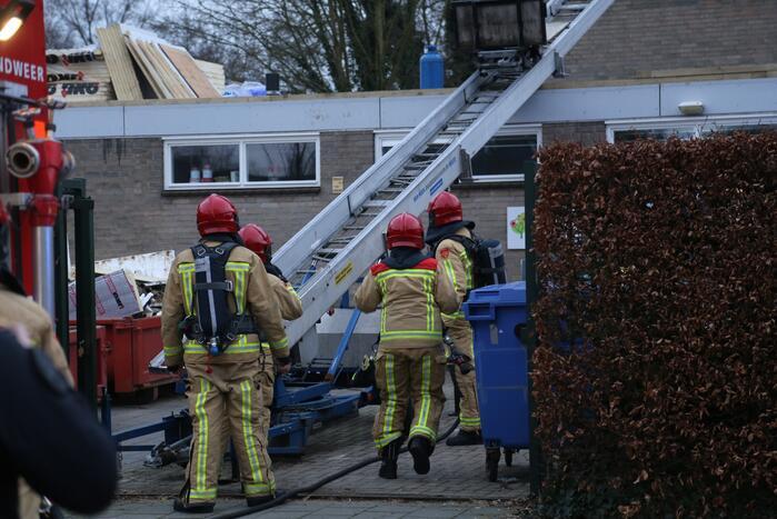 Explosie op dak van school