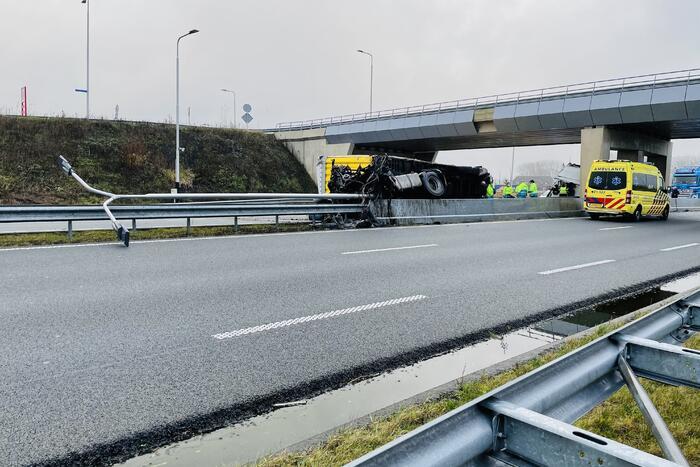 Ernstig ongeval met vrachtwagen