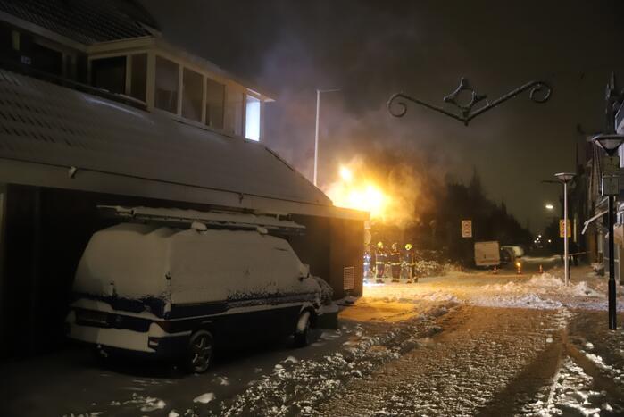 Brand in electriciteitshuisje