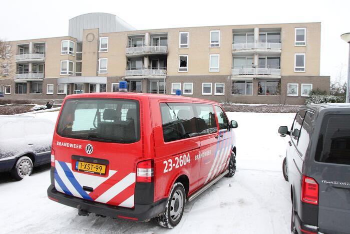 Vrouw overleden bij brand in appartement