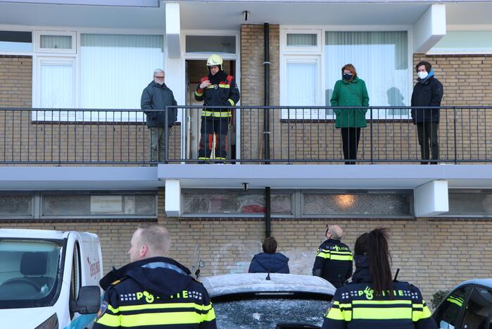 Onderzoek naar brand in flatwoning