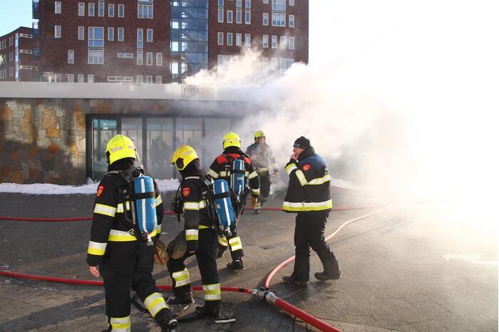 Dikke rookwolken bij brand in restaurant PeperZout