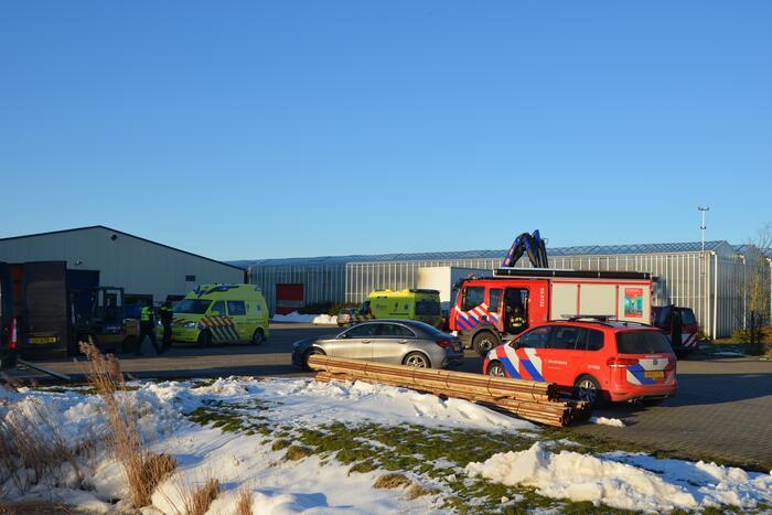 Ernstig ongeval bij laden en lossen
