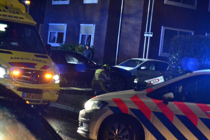 Gewonde bij ongeval met twee voertuigen