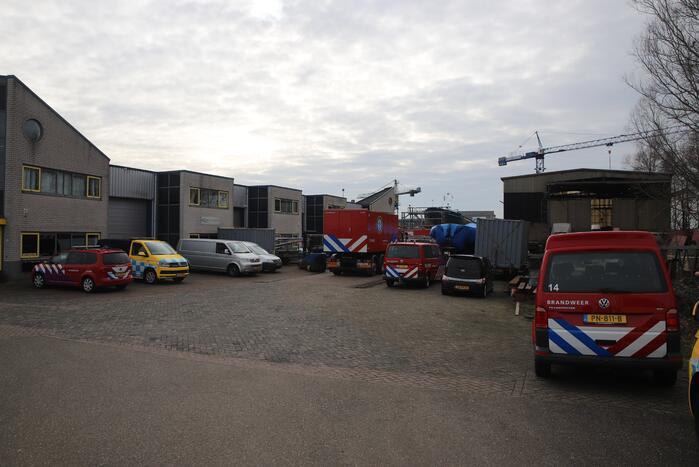 Brand in machinekamer van schip