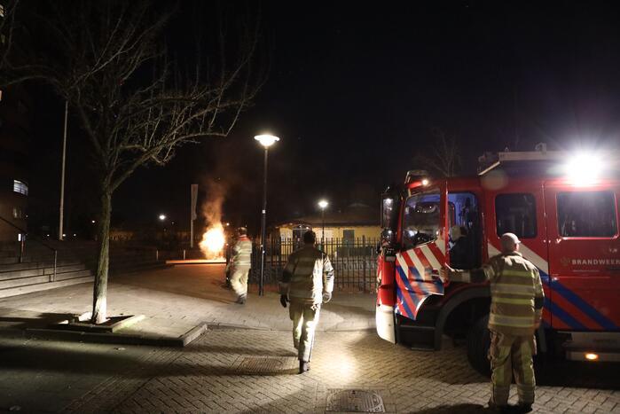 Boekenkast bij De Herberg Nieuwland in brand gestoken