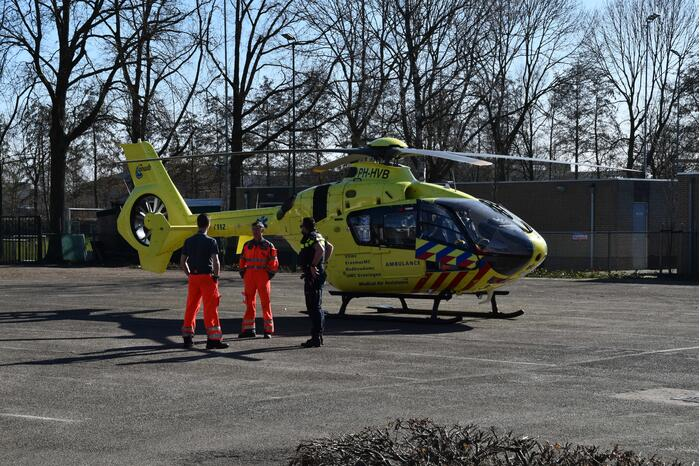 Traumahelikopter ingezet voor incident in woning