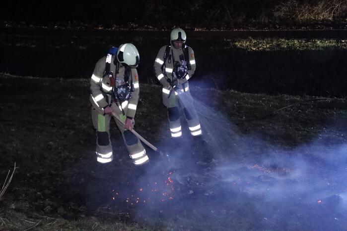 Handhaving ontdek buitenbrand