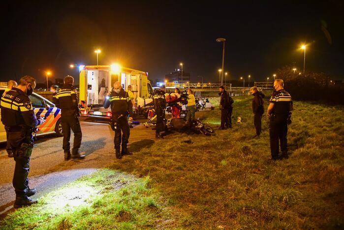 Scooterrijder zwaargewond na eenzijdig ongeval
