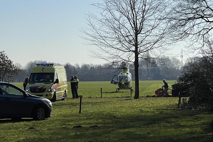 Traumahelikopter landt voor ernstig incident op boerenterrein