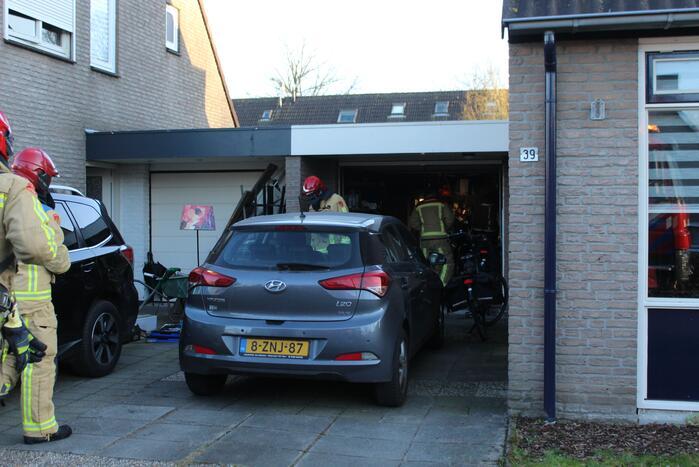 Brand in garage door kortsluiting