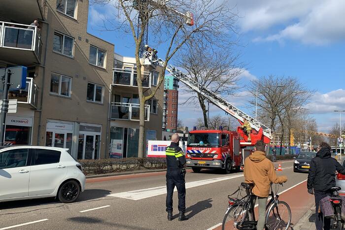 Brandweer ingezet om woning te betreden