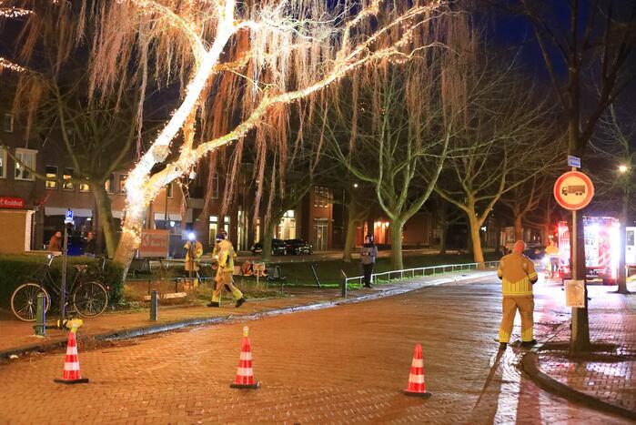 Instabiele boom omgezaagd door brandweer