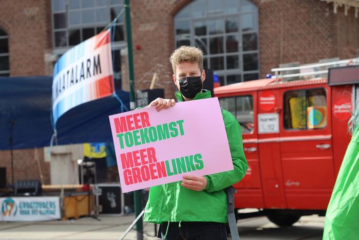 Klimaatdemonstratie bij Wagenwerkplaats