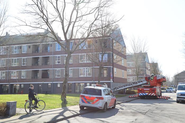 Brand in slaapkamer van flatwoning snel geblust