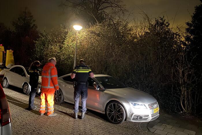 Politie neem een gestolen Audi S7 in beslag