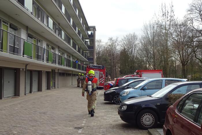 Brand in flatwoning snel geblust