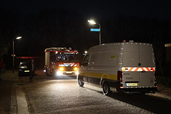 Brandweer ingezet voor gaslucht
