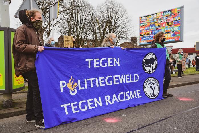 Demonstratie tegen politiegeweld en racisme