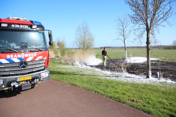 Stuk veld beschadigd door brand