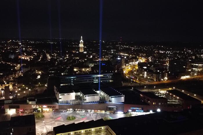 Connecting lights verlichten stad