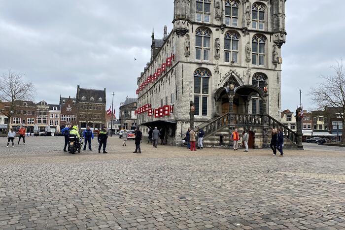 Demonstratie op de Markt