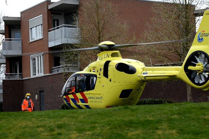 Traumahelikopter ingezet voor incident
