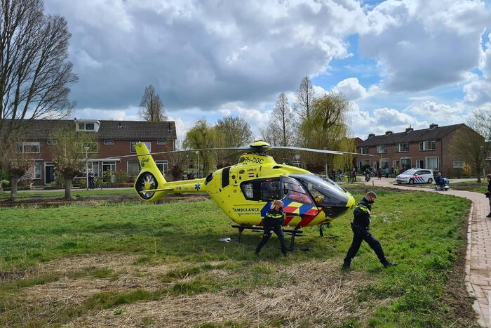 Traumahelikopter landt bij Kalmoespad voor incident
