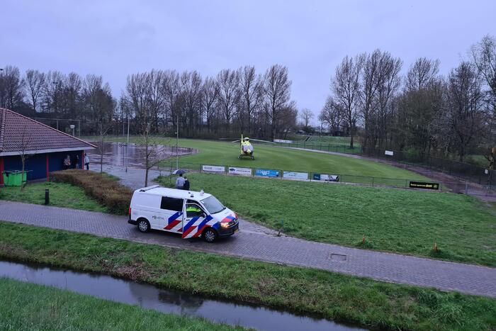 Traumahelikopter voor incident in woning