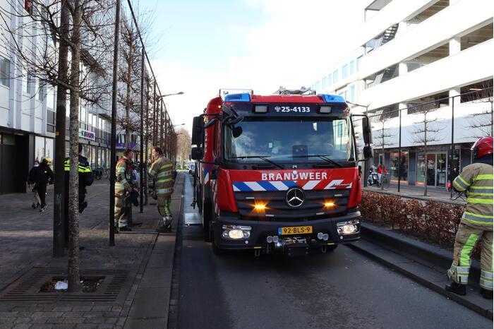 Brand in appartement Winkelcentrum Citymall