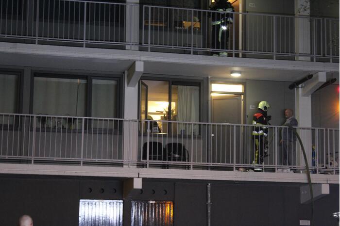 Woningbrand in flatgebouw