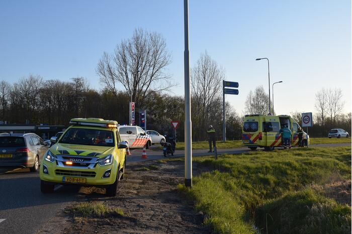 Scooterrijder gewond bij eenzijdig ongeval