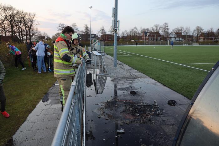 Brand op terrein voetbalvereniging
