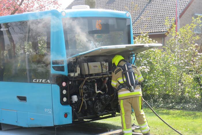 Veel rook bij brand in stadsbus